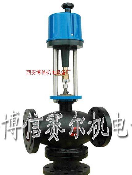 供应西安博信国产大口径电动温控阀