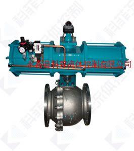 AW双作用气动不锈钢O型球阀、气动浮动球阀
