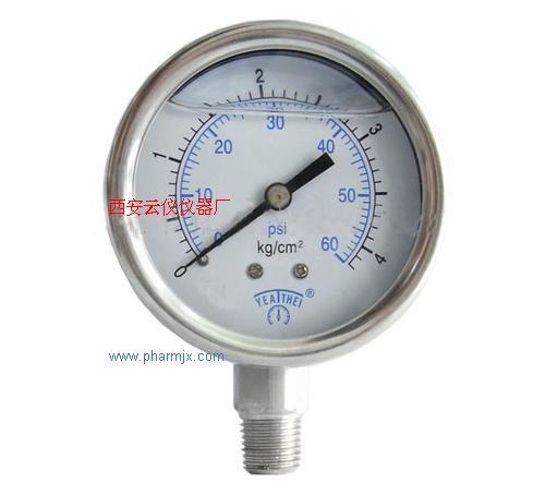 药品包装仪器-耐震不锈钢压力表