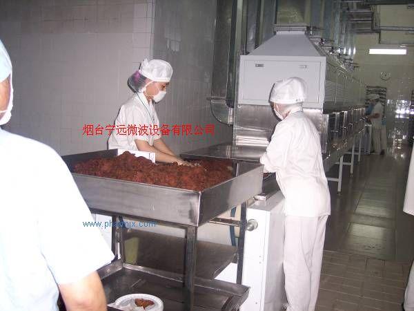 微波牛肉干干燥殺菌設備