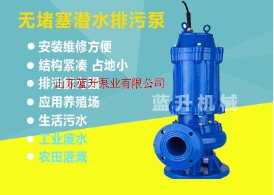淄博WQ系列不锈钢潜水排污泵厂家