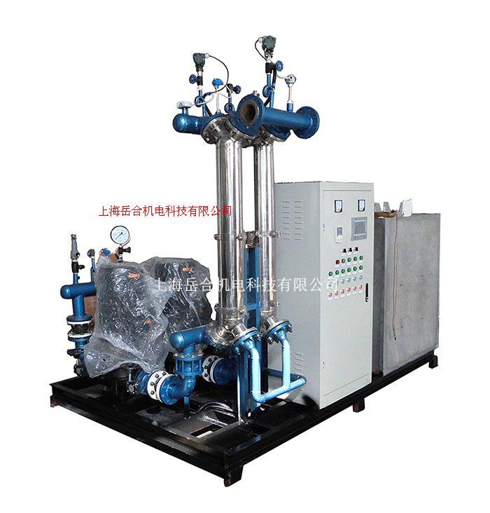 供應岳合YH雙螺旋汽水換熱機組供暖機組
