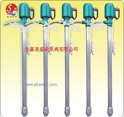 盛澤泵閥手提式電動油桶泵