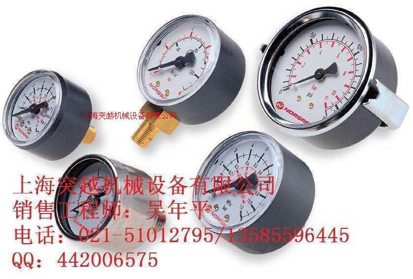 现货norgren压力表18-013-012不锈钢压力表