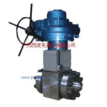 高温高压硬密封球阀, Q961Y-P5414V型电动球阀