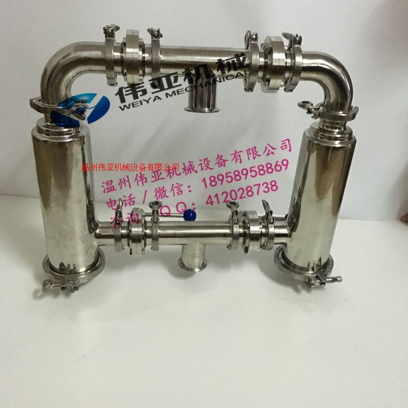 化工DN32不銹鋼雙聯管道過濾器