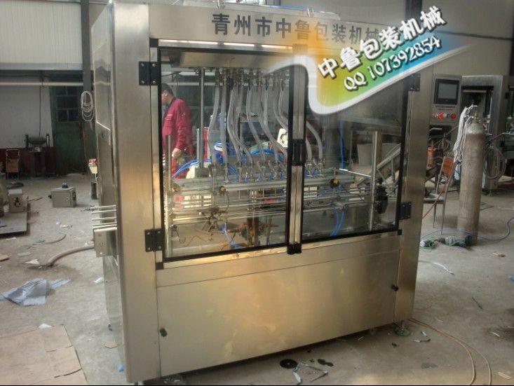 全自動直線式飲料灌裝機  青州中魯廠家直銷
