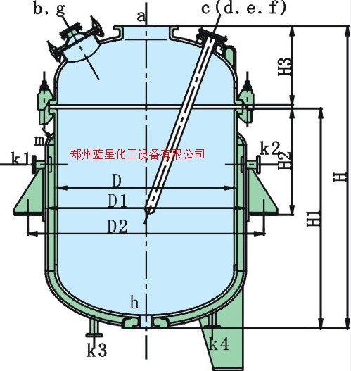 搪瓷蒸馏釜